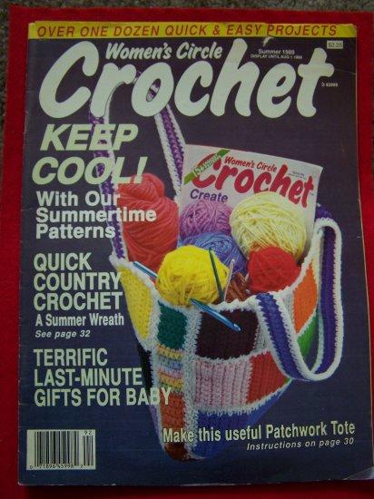 1980s Vintage Woman's Circle Crochet Magazine Baby Girls Dress Pinafore Blanket Overalls