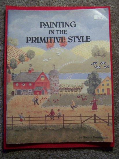 Vintage Painting Primitive Style Instruction Art Pattern Paint Book Norma Harrington