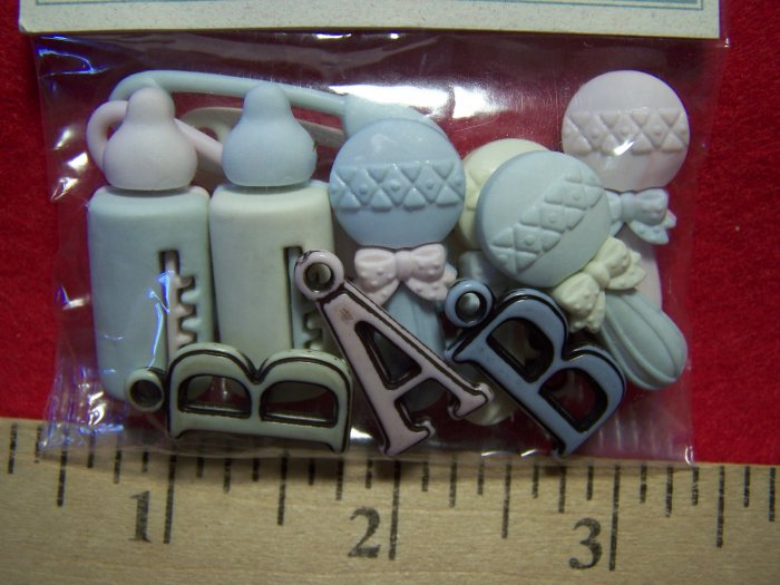Dress IT Up Scrapbooking Buttons Oh Baby! Set Sew 1 Penny USA Shipping