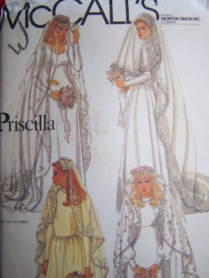 Vintage Priscilla Bridal Veils and Headpieces Wedding McCall's Sewing Pattern 7186