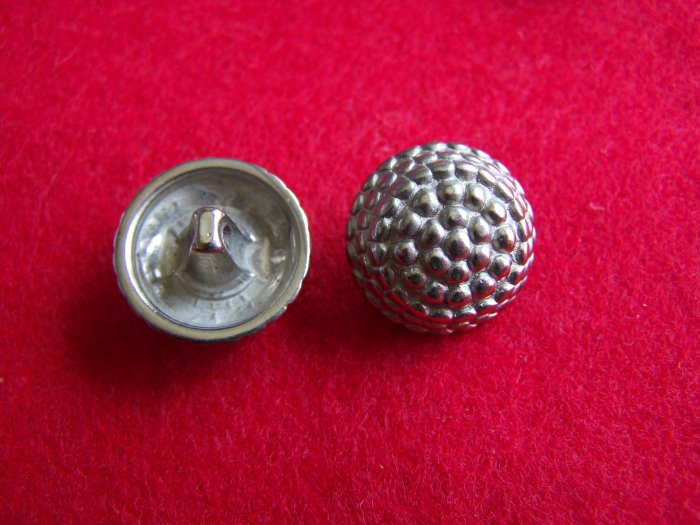 8 Vintage Buttons Silver Plastic 3/4 Round Dome Lot 1 Penny USA Shipping
