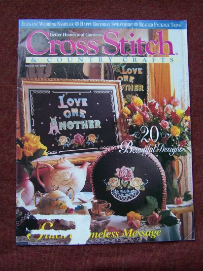 1994 May June Cross Stitch & Country Crafts Back Issue Magazine Patterns