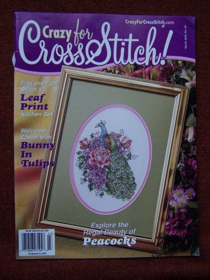 Crazy for Cross Stitch Pattern Magazine March 2002 # 69 Craft Patterns