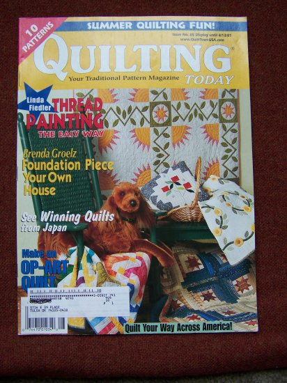 Quilt Patterns Quilting Today Magazine # 85 2001 Pattern Quilts
