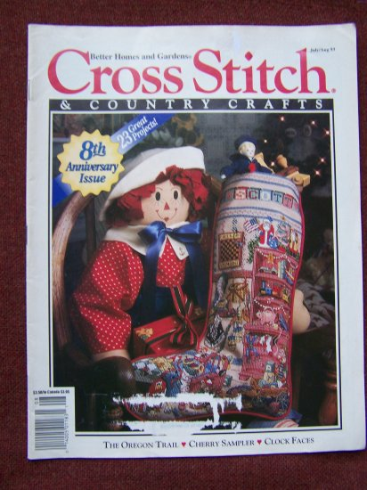 Cross Stitch Country Crafts Back Issue Pattern Magazine July Aug 93