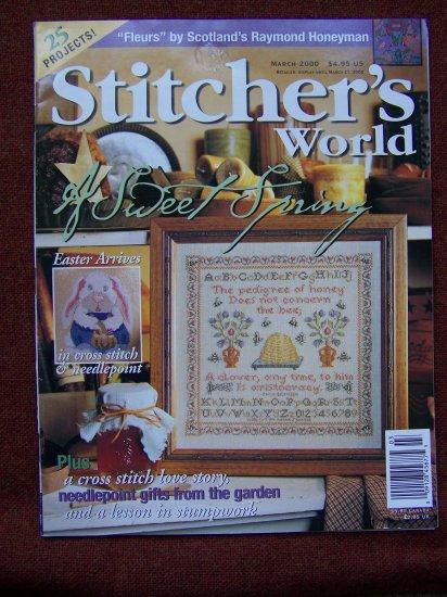 March 2000 Stitcher's World Cross Stitch Back Issue Magazine Spring Fever