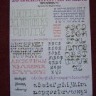 Vintage Leisure Arts Leaflet 407 Backstitch Mini Alphabets + Vogart Monogram Transfer Patterns