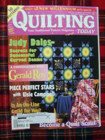 Quilting Today Pattern Magazine 76 Feb 2000 Quilts Rose Stars Basket Log Cabin Sad Iron