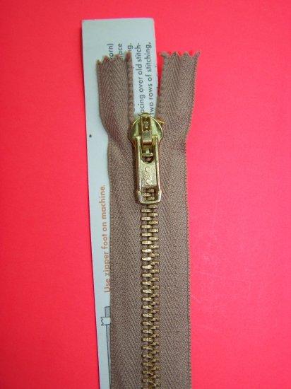 "New Vintage J & P Coats Heavy Trouser Pants Metal Zipper 9"" Brown Dogwood"