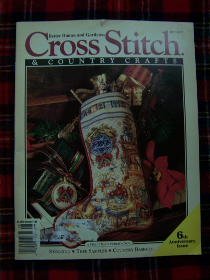 Cross Stitch and Country Crafts July August 1991 Christmas Stockings