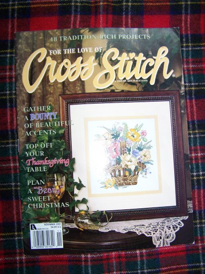 For The Love Of Cross Stitch Patterns Magazine November 2001 Graph pattern book
