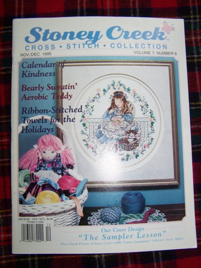 Stoney Creek Cross Stitch Pattern Magazine November December 1995