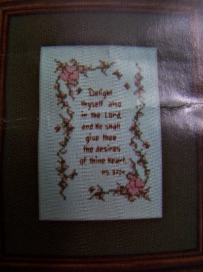 Vintage Cross Stitch Delight In The Lord PS 37:4 Graph Pattern 659X 1 Cent USA S&H