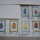6 Vintage FLoral Embroidery Patterns Artistic Needle Needlepoint USA 1 Cent S&H