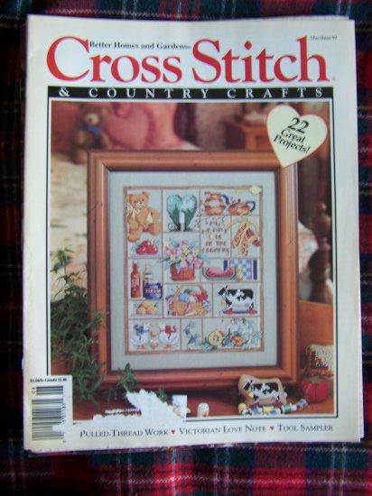 Cross Stitch & Country Crafts Pattern Magazine May June 1993 Patterns 22 Projects