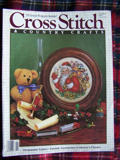 Vintage Nov Dec 1987 Cross Stitch Pattern Magazine 25 Patterns