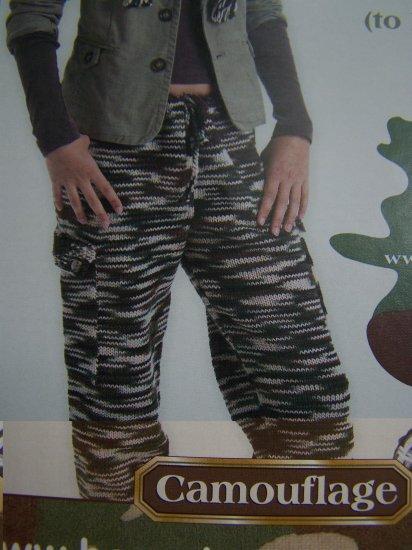 Misses Camouflage Pants Knitting Pattern S M L XL XXL XXXL XXXXL USA 1 Cent S&H