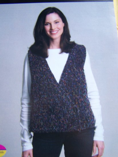 Misses Knitting Pattern Double Breasted Knit Vest S M L XL XXL XXXL  1 Cent US S&H