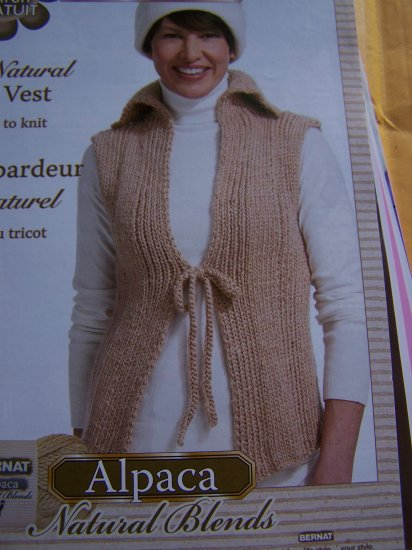 Misses Knitting Pattern Sweater Vest Bust 28 - 62 USA 1 Cent S&H