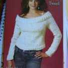 Misses Sexy Off Shoulder Pullover Knitted Sweater Knitting Pattern S M L XL
