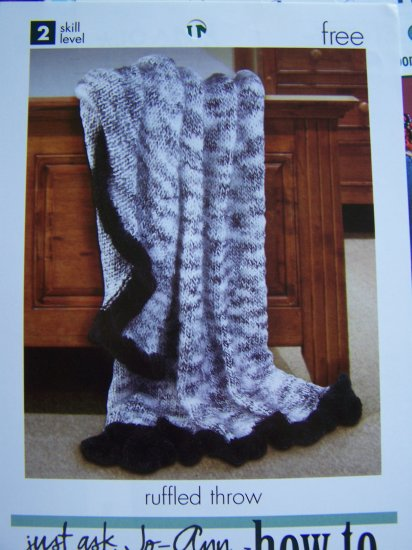 Afghan Ruffled Throw Blanket 60 x 32 Knitting Pattern 1 Cent USA Shipping