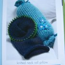 DIY Knitted Neck Roll Travel Pillow Knitting Pattern 1 Cent USA S&H