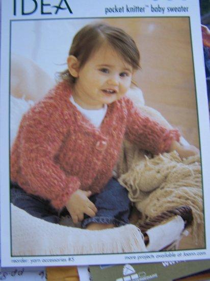 Pocket Knitter Baby Sweater Knitting Pattern I Cent USA Shipping