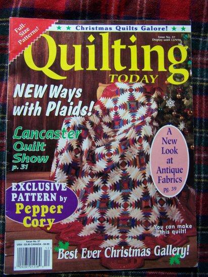 Quilting Today Pattern Magazine # 57 Dec 1996 Quilt Patterns