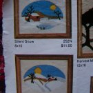 2 Vintage Artistic Needle Patterns Silent Snow & Winter Morning USA 1 Cent S&H