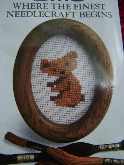 Easy Mini DMC Embroidery Needlecraft Cross Stitch Koala Bear USA 1 Cent S&H
