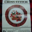 Vintage 1983 Cross Stitch Graph Pattern Strawberries Bees Basket USA 1 Cent Shipping