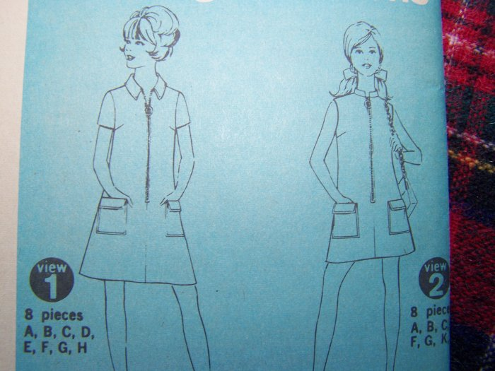 Mini or Knee Length Stewardess Dress Junior Petite XS S Vintage Sewing Pattern 7602