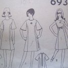 Vintage A Line Princess Dress Bell Sleeve or Sleeveless Sub Teen Sewing Pattern 6936
