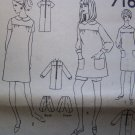 Vintage Dress Smock Top Mini or Knee Sewing Pattern 7163 Bust 33.5