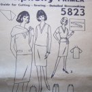 Vintage Sewing Pattern 5823 V Neck Top Straight Skirt Sz 14 B 34 Simplicity