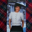 Vintage Crocheting or Knitting Pattern Summer Short Sleeve Cardigan Sweater