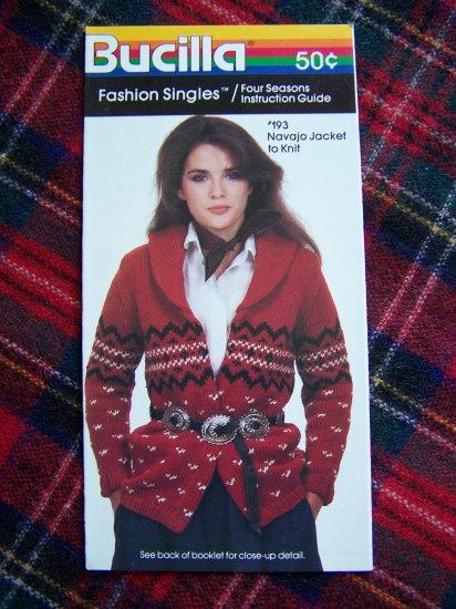 Vintage Knitting Pattern Navajo Indian Wrap Sweater Jacket 1 Cent USA S&H