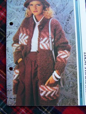 Vintage Misses Fair Isle Sweater Jacket Knitting Pattern USA 1 Cent S&H