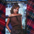 1 Cent Shipping US Vintage Off Shoulder Evening Blouse Sweater Knitting Pattern Bucilla