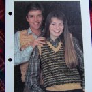 Unisex Vintage Knitting  Sweater Vests Patterns Mens Womens