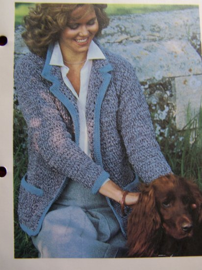 Vintage Crochet Pattern Basic Jacket Blazer Casual Wear Crocheting USA Shipping 1 Cent