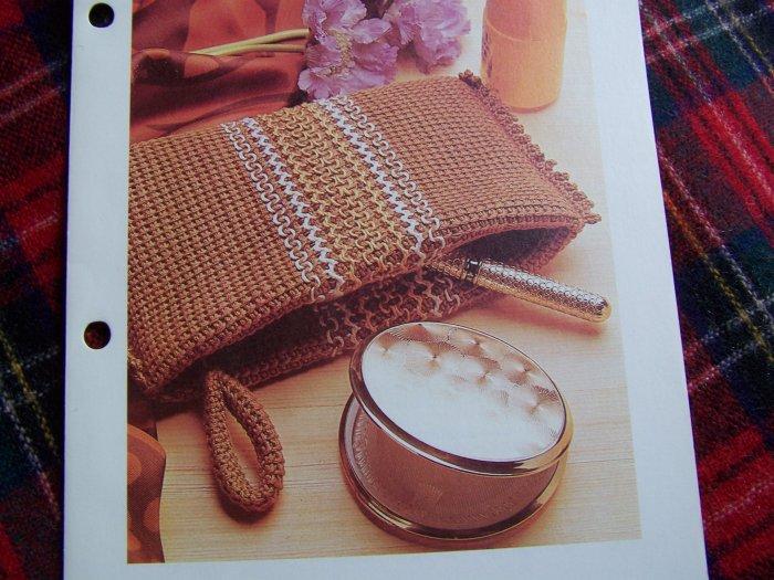 Vintage Evening Bag Purse Crochet Pattern USA 1 Cent S&H