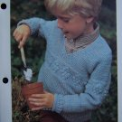 Vintage Toddler Boys or Girls Pineapple Sweater Crochet Pattern USA 1 Cent S&H