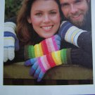 Men and Womens Crochet Pattern Striped Gloves USA 1 Cent Shipping Special