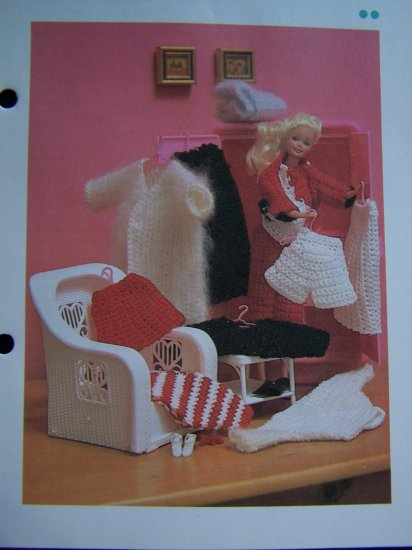 """Vintage 11"""" Doll Clothes Wardrobe Crochet Pattern USA 1 Cent Shipping Special"""