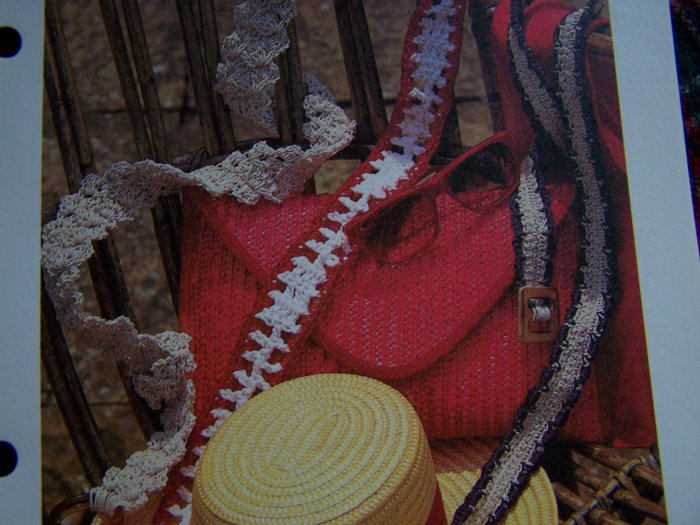 Vintage Crochet Pattern Hippie Belt Patterns 1 Cent USA Shipping