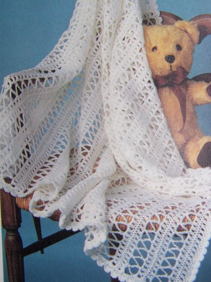 1 Cent USA S&H Vintage Pattern Hairpin Crochet Baby Afghan Blanket