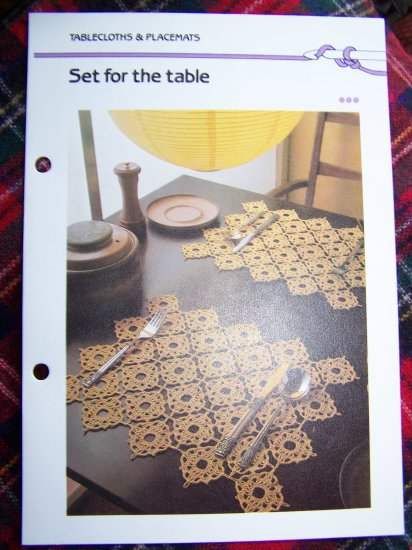 USA 1 Cent S&H Vintage Easy PlaceMat Set Table Setting Crochet Pattern