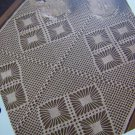 Vintage Crochet Pattern Lace Tray Cloth Tablecloth 1 Cent USA Shipping Special