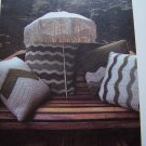 4 Vintage Chevron Throw Pillow Patterns Decorative Crochet Pattern USA 1 C S&H